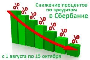 Сбербанк снизил процентные ставки по кредитам