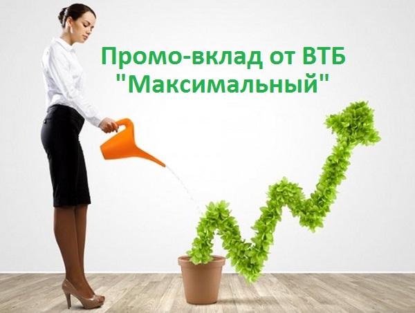 ВТБ запустил промо-вклад «Максимальный»